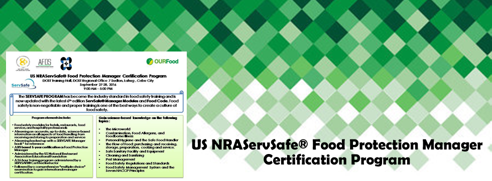 US NRAServSafe® Food Protection Manager Certification Program | OURFood